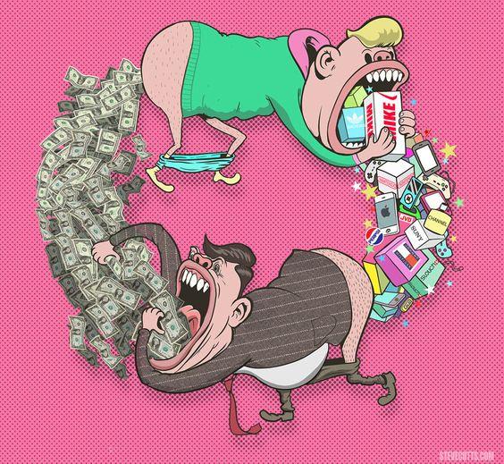 As ilustrações satíricas de Steve Cutts retratam a dura realidade sobre a sociedade atual, em crítica ao capitalismo e o consumismo desenfreado. Confira!: