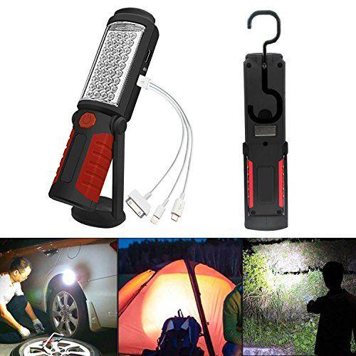 Suntop Led Arbeitsleuchte Mit Magnet Aufladbar Taschenlampe Werkstattlampe Portable Handlampe Campinglampe Microphone Recording Microphone Electronic Products