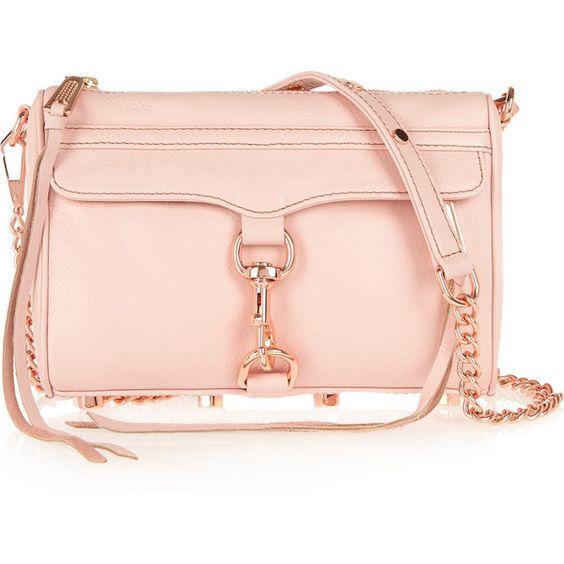 Rebecca Minkoff Mini Mac textured-leather shoulder bag (905 HKD) ❤ liked on Polyvore