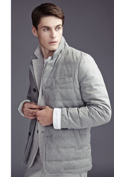 Reiss Vialli Men&39s Grey Quilted Jacket | Stylish men | Pinterest