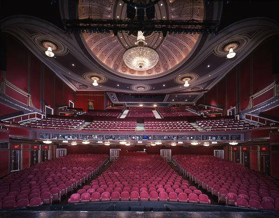 View From The Stage Of The Broadway Theatre In Nyc This