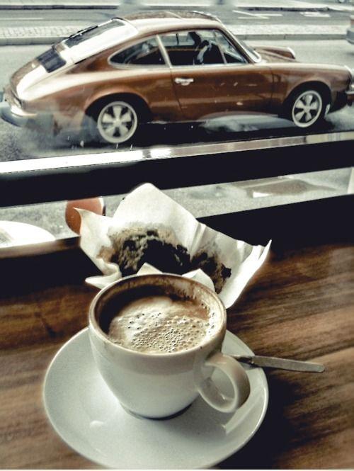 cafe coloured Porsche