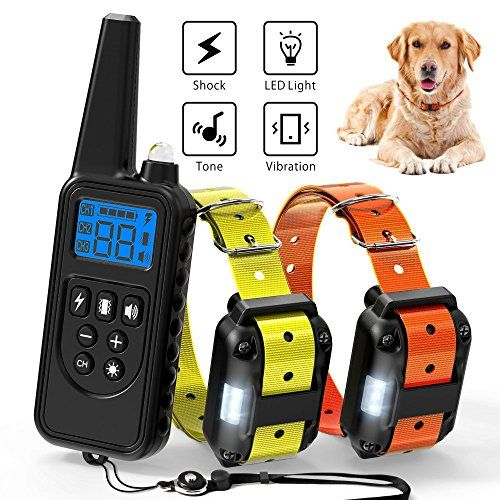 Ace Teah Dog Training Collar Rechargeable Dog Shock Collar With