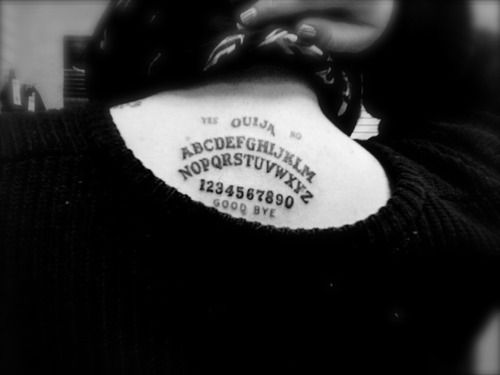 Ouija Tattoo.