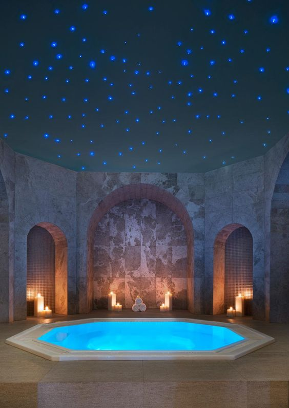 WOW!! Dreamy luxury spa! Iridium Spa at the St Regis Mauritius #luxury #interiordesign #bathroom: