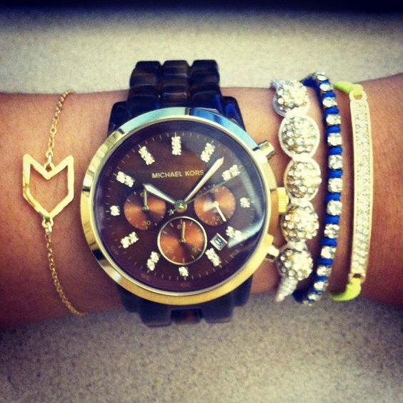 Chevron Charm Bracelet is the life of this arm party!