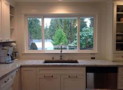 Kitchen Sink Window Off Center 56 Ideas Kitchen With Images