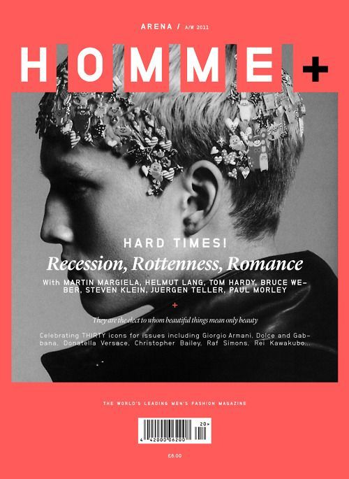 slighted - 018 - Arena Homme Plus | b / m c o v e r / typo | Pin…