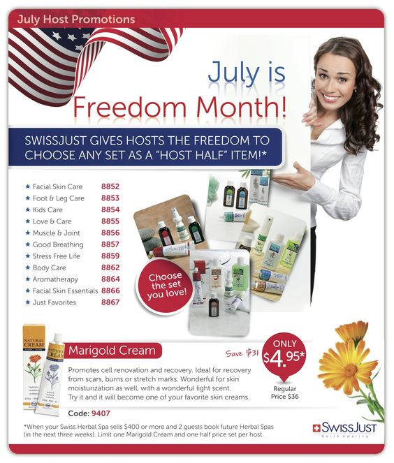 July is Freedom month for YOU!