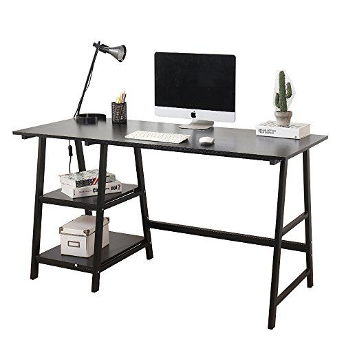Soges 55 Computer Desk Trestle Desk Writing Home Office Https Www Amazon Com Dp B07cwjjz7k Ref