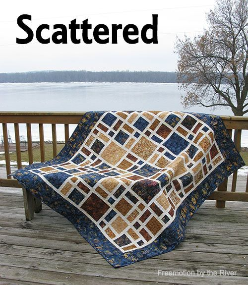 Scattered a new quilt made with batiks from Island Batik ~ Freemotion by the River