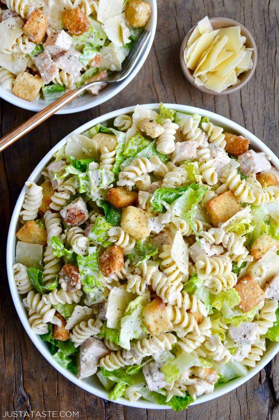 Chicken Caesar Pasta Salad   Just a Taste