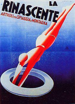 """Anno: 1931 Soggetto: """"La Rinascente, articoli per spiaggia e montagna"""" - Stampa Star – IGAP, Milano Provenienza: Raccolta Salce, Museo Bailo, Treviso"""