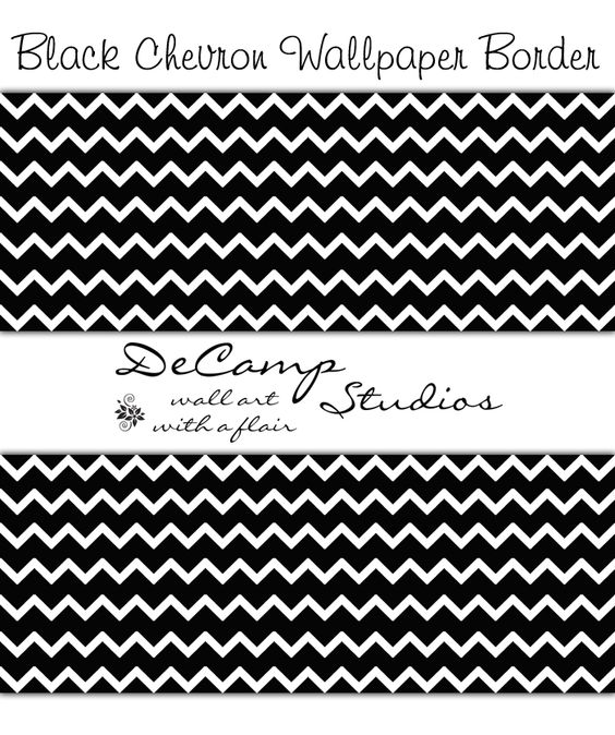 Best Black And White Chevron Wallpaper Border Wall Decals For 400 x 300