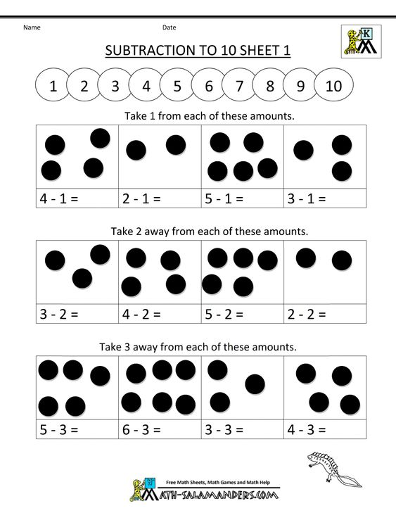 math worksheet : addition and subtraction worksheets subtraction to 10 1  1000  : Kindergarten Addition And Subtraction Worksheets