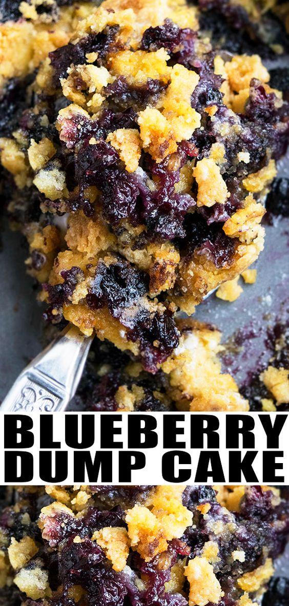 Blueberry Dump Cake (Blueberry Cobbler Dump Cake)