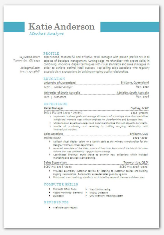 microsoft word resume templates and resume on pinterest