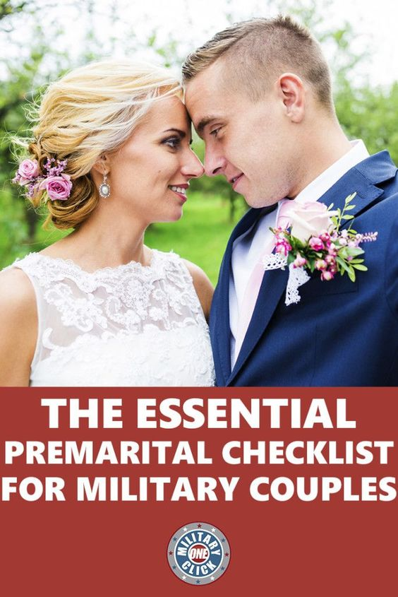Check list of important legal items that military couples need to take care of before they get married!