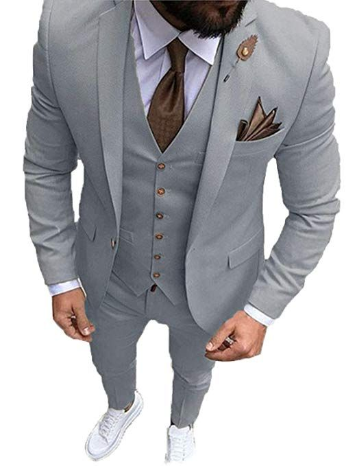 Ysmo Herren Slim Fit 3 Teiliger Anzug Fur Brautigam Oder Trauzeuge Der Anzug Besteht Aus Jacke Hose U Schwarzer Anzug Hochzeit Anzug Hochzeit Hochzeit Blazer