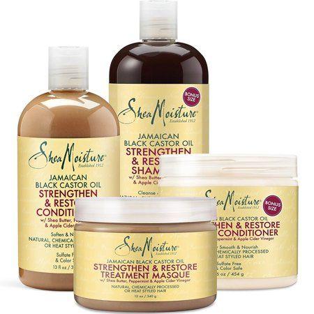 Shea Moisture Sheamoisture Jamaican Black Castor Oil 4 Piece Gift Set Walmart Com Shea Moisture Products Black Castor Oil Castor Oil Shampoo