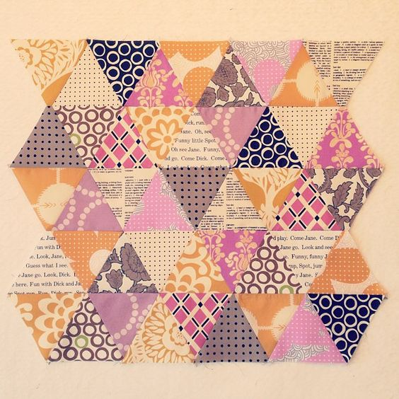 mjandco   Sew triangles together ✔ | Flickr - Photo Sharing!