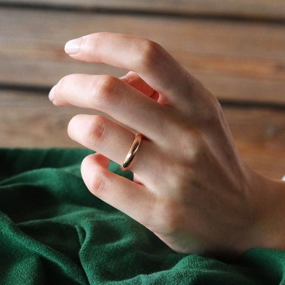 Sterling Silver And Gold Ring Set Set Of 12 Ultra Thin Gold And