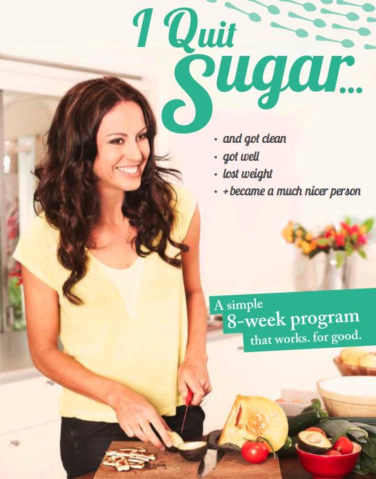 Sarah Wilson's blog -I quit sugar and got clean.  Every time I've quit I feel amazing....need to read this.