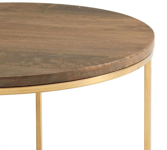 Delaney 25 Round Coffee Table Round Coffee Table Coffee Table Wood Gold Coffee Table