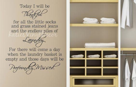 Laundry Room Decor-Today I Will Be by KatiesVinylDecor on Etsy