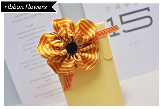 DIY Ribbon Flower Clips
