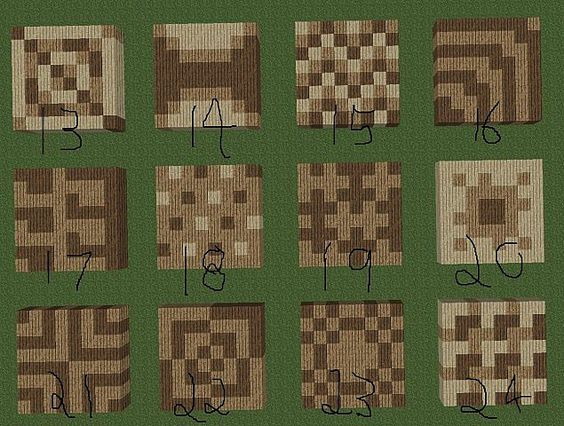 Cool minecraft floor patters! Could really use this for some buildings in my worlds...