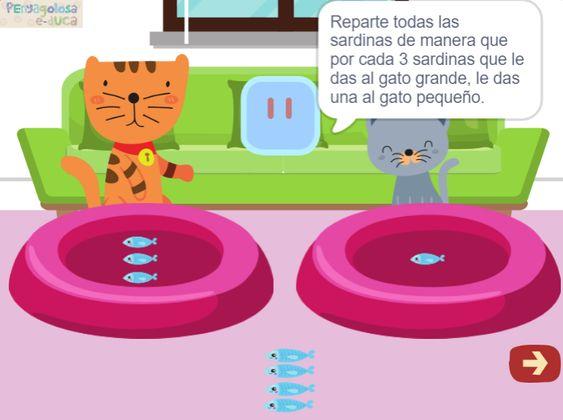 El gato pequeño come un tercio (4-16)