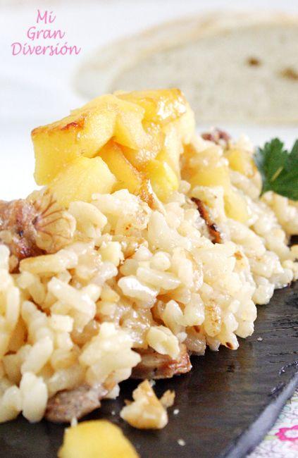 ... Risotto de pera, gorgonzola y nueces - Risotto pear, gorgonzola and