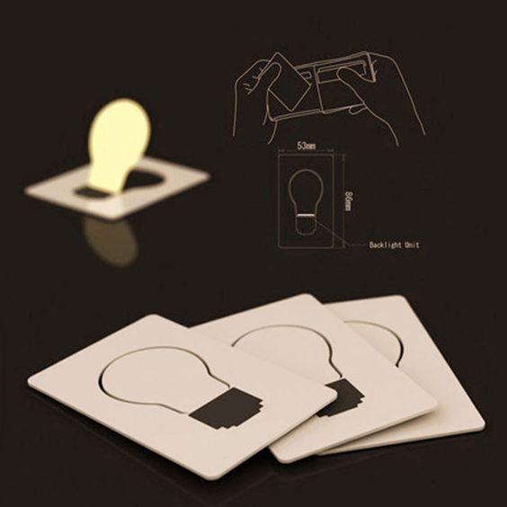 Creative Gifts Cute Portable Pocket LED Card Light Mini Emergency Light Hot Sale