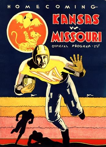 1931 Kansas-Missouri rivalry, vintage game program ...
