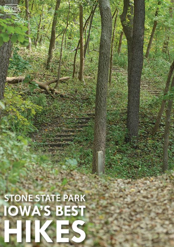 7 of Iowa's best hikes in State Parks - Stone State Park is located in the Loess Hills in Sioux City