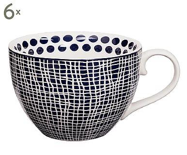 Cappuccino-Tassen Net, 6 Stück, 310 ml