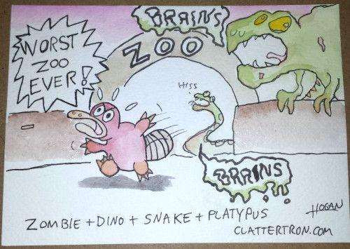 random cartoon http://clattertron.com/2015/06/30/grasp-comic-expo-2015-recap/ #cartoon #watercolor