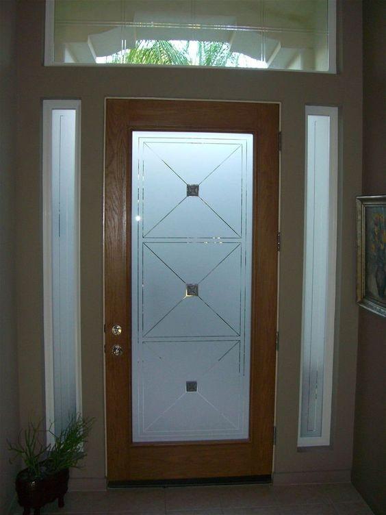 Stylish Glass Entry Door