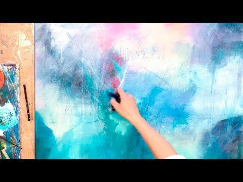 Abstrakte Malerei Easy Fur Anfanger Simples Werkzeug Acryl Youtube Abstrakte Malerei Malerei Acrylmalerei Abstrakt