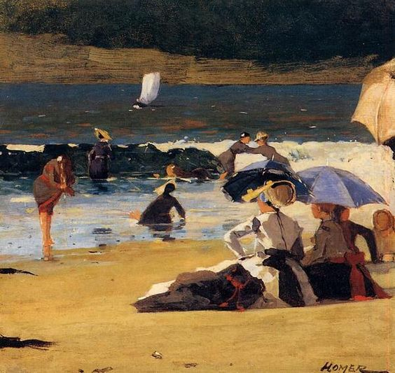 Winslow Homer(1836-1910)「By the Shore」
