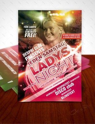 Ladys Night - Disco Flyer Vorlage, Design inkl. Druck, F0002 | Flyer | Designvorlagen | Despri