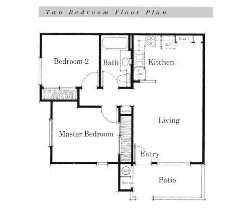 Simple house floor plans teeny tiny home pinterest for Simple floor plan design