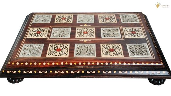 Silver inlay rosewood manne-Home Decor-Indikkrafts