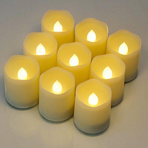lot de 9 bougies sans flamme bougies led piles. Black Bedroom Furniture Sets. Home Design Ideas