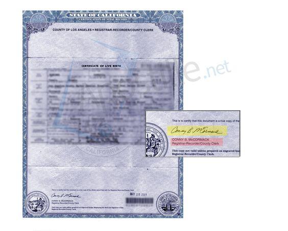 71 best State of California Sample Apostille images on Pinterest - new california birth certificate sample