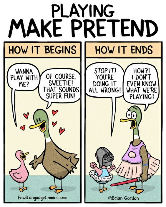 Playing make  pretend!