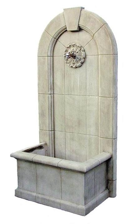 Sandstone Wall Fountain With Square Pond Pinterest Wall Fountains Ponds And Squares