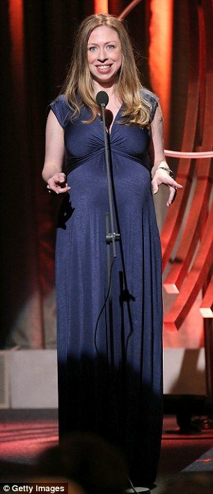 A very pregnant Chelsea Clinton spoke at the Clinton Global Citizen Awards in New York City this past weekend.