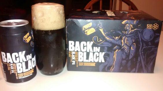 21st Amendment Brewery from San Francisco CA. BACK IN BLACK BLACK IPA AMERICAN IPA BREWED WITH RICH DARK MALTS 6.8 ALC./VOL. 65 IBU's              21st-amendment.com